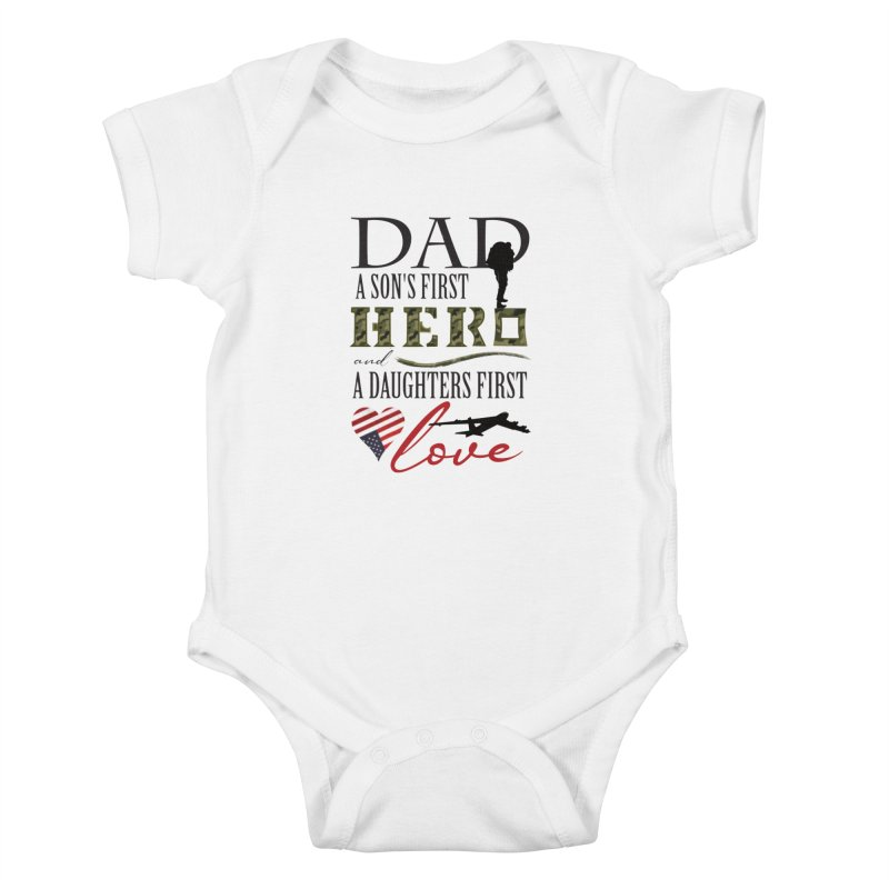 H E R O Kids Baby Bodysuit by MyInspirationalGifts Artist Shop