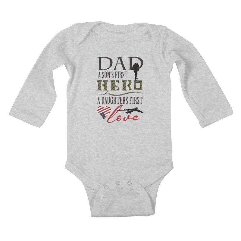 H E R O Kids Baby Longsleeve Bodysuit by MyInspirationalGifts Artist Shop