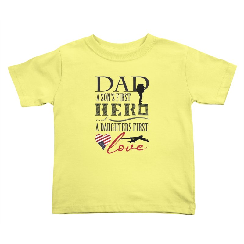 H E R O Kids Toddler T-Shirt by MyInspirationalGifts Artist Shop