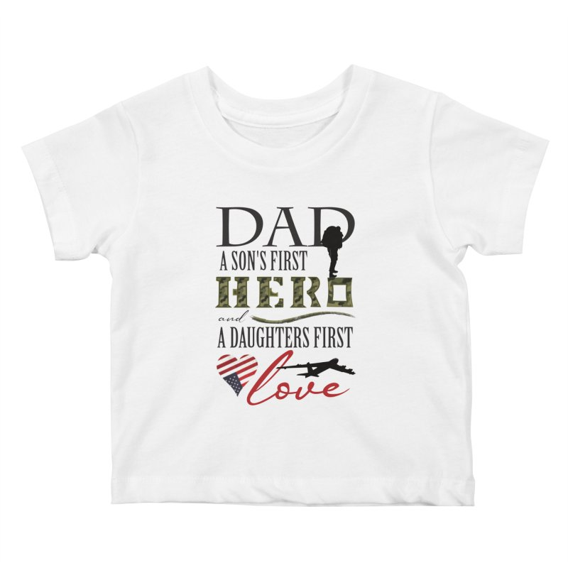 H E R O Kids Baby T-Shirt by MyInspirationalGifts Artist Shop