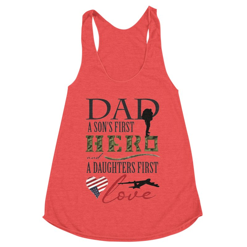 H E R O Women's Racerback Triblend Tank by MyInspirationalGifts Artist Shop