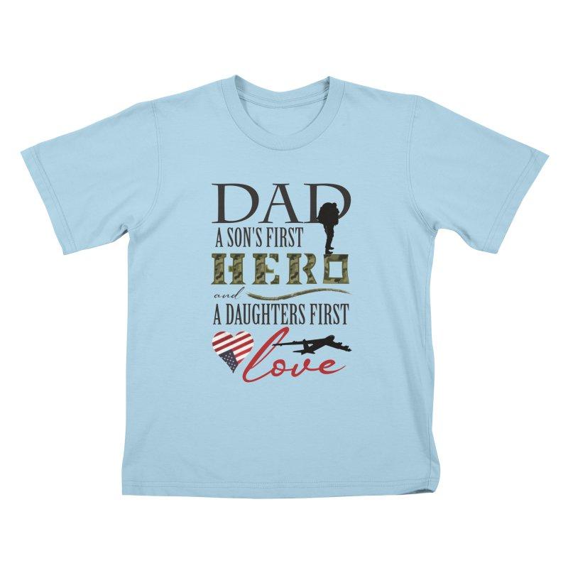 H E R O Kids T-Shirt by MyInspirationalGifts Artist Shop