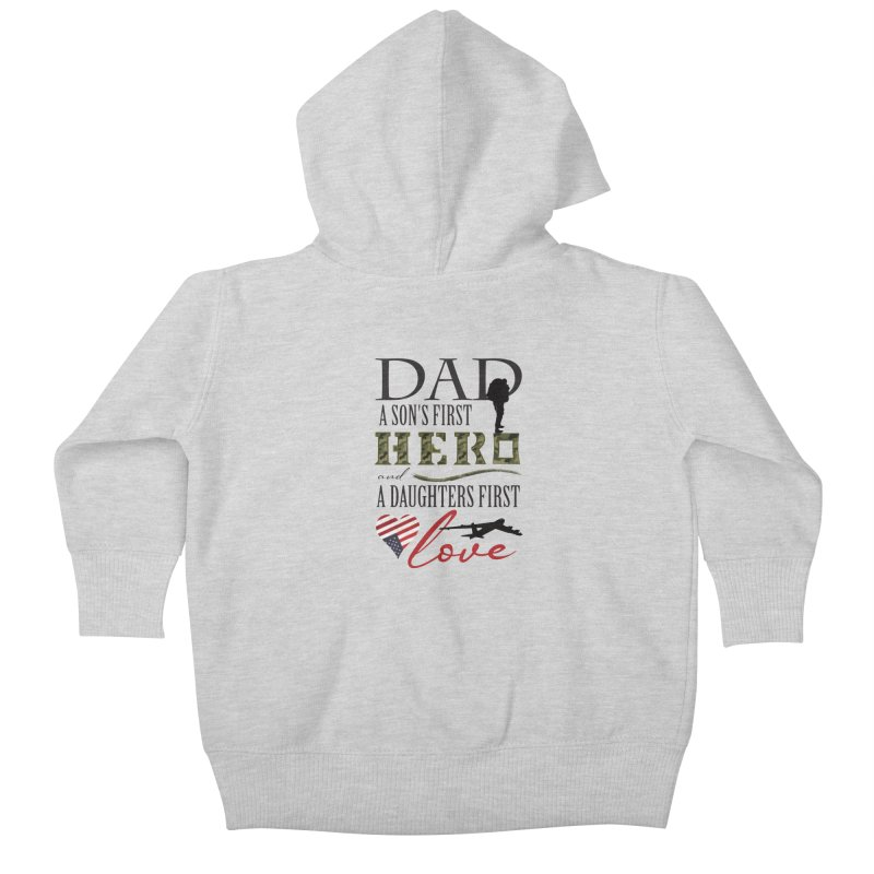 H E R O Kids Baby Zip-Up Hoody by MyInspirationalGifts Artist Shop