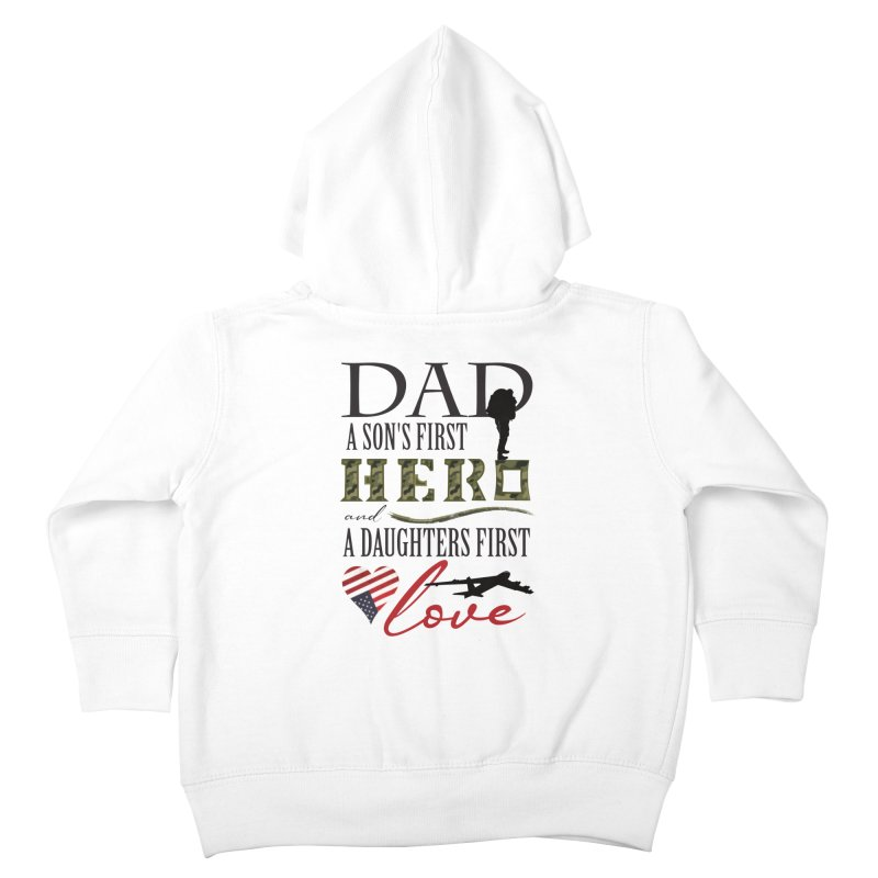 H E R O Kids Toddler Zip-Up Hoody by MyInspirationalGifts Artist Shop
