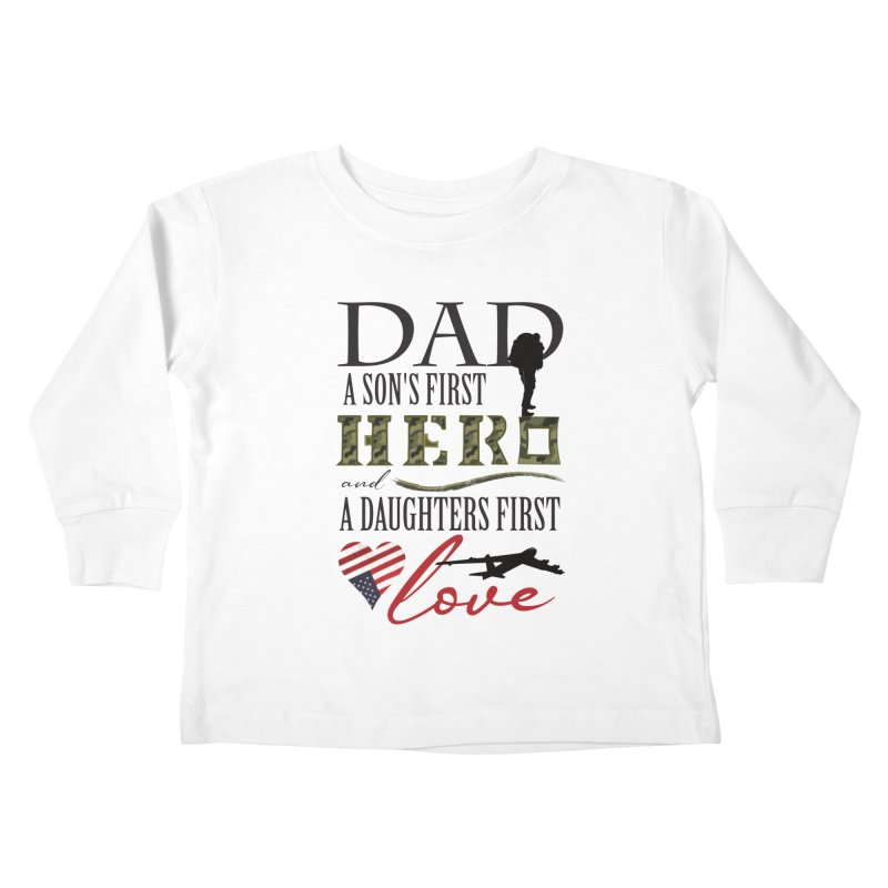 H E R O Kids Toddler Longsleeve T-Shirt by MyInspirationalGifts Artist Shop