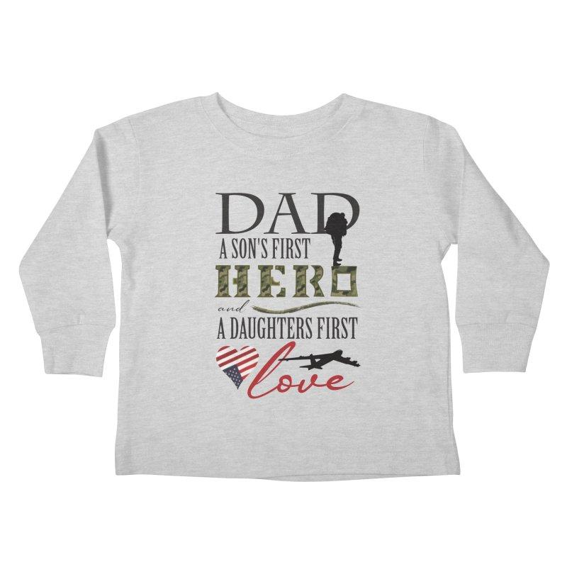 H E R O Kids Toddler Longsleeve T-Shirt by MyInspirationalGifts Artist Shop
