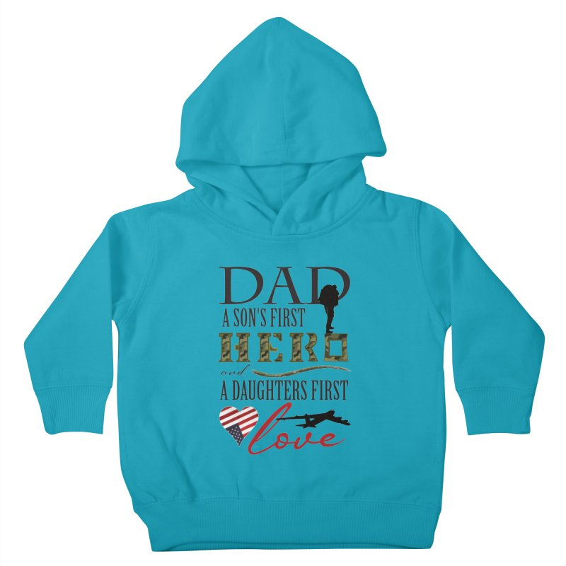 H E R O Kids Toddler Pullover Hoody by MyInspirationalGifts Artist Shop