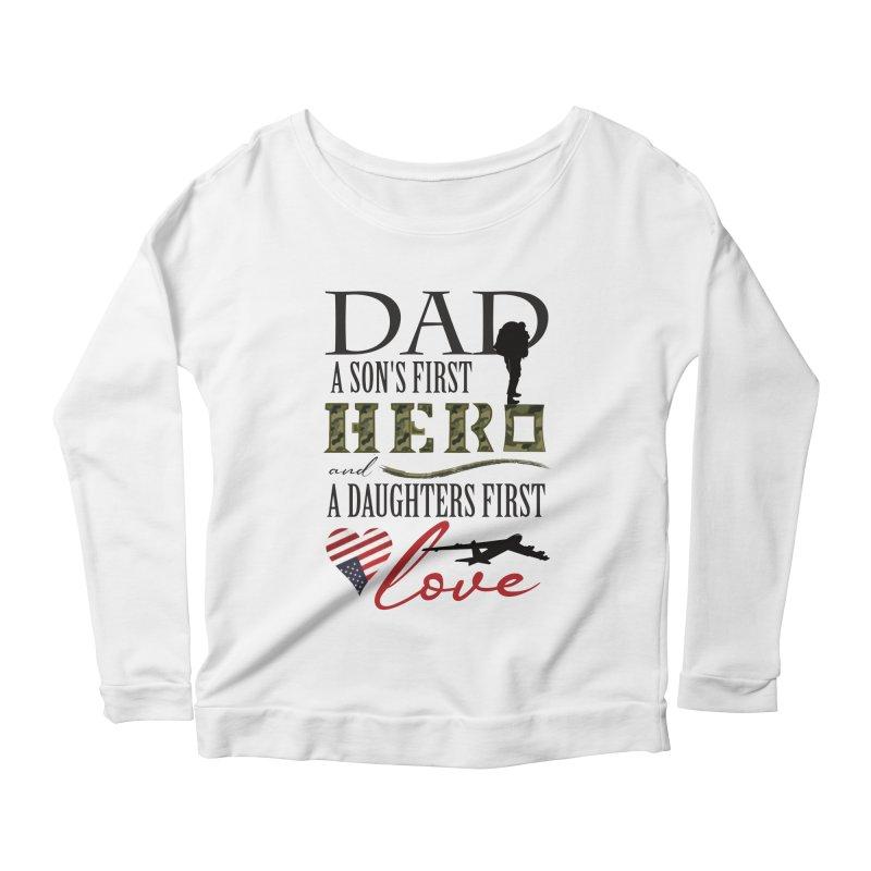 H E R O Women's Scoop Neck Longsleeve T-Shirt by MyInspirationalGifts Artist Shop