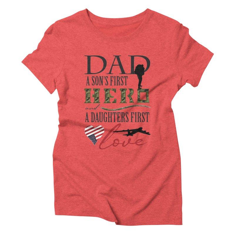 H E R O Women's Triblend T-Shirt by MyInspirationalGifts Artist Shop