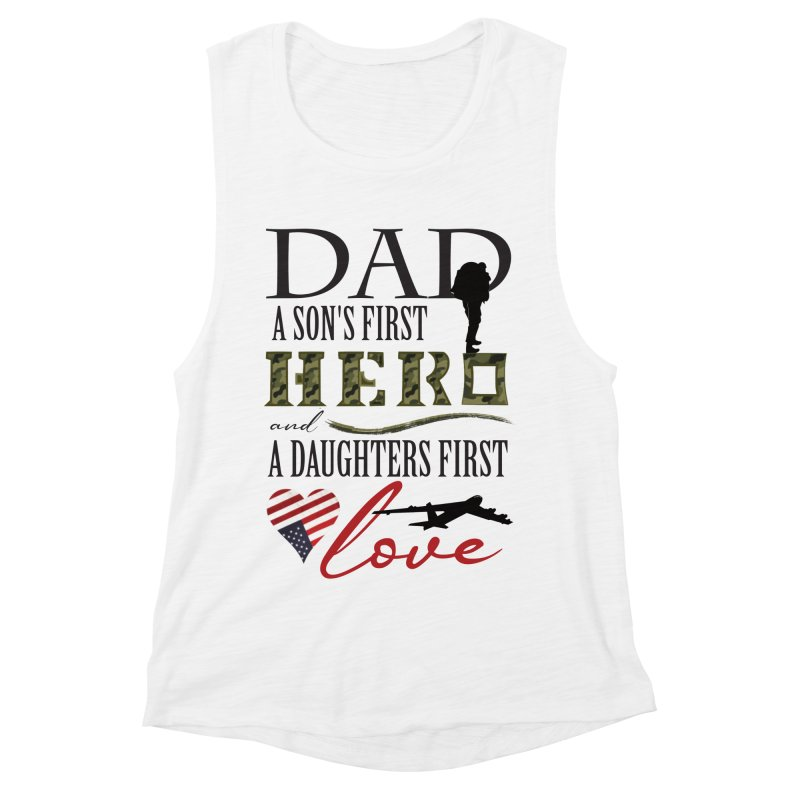 H E R O Women's Muscle Tank by MyInspirationalGifts Artist Shop