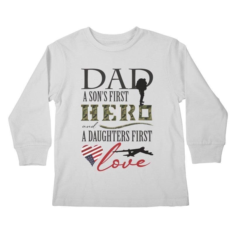 H E R O Kids Longsleeve T-Shirt by MyInspirationalGifts Artist Shop