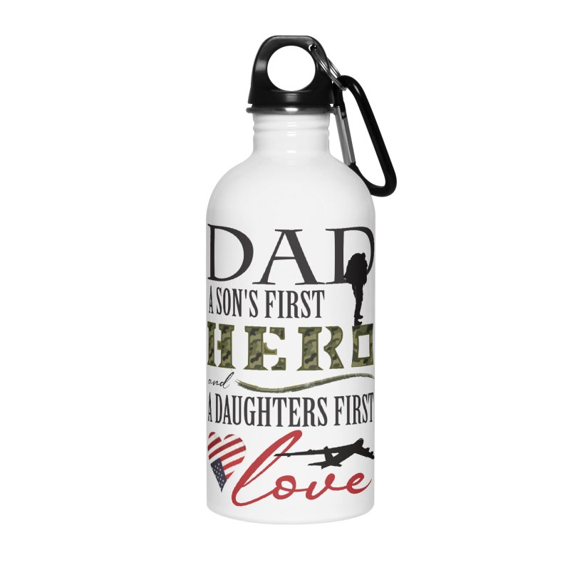 H E R O Accessories Water Bottle by MyInspirationalGifts Artist Shop