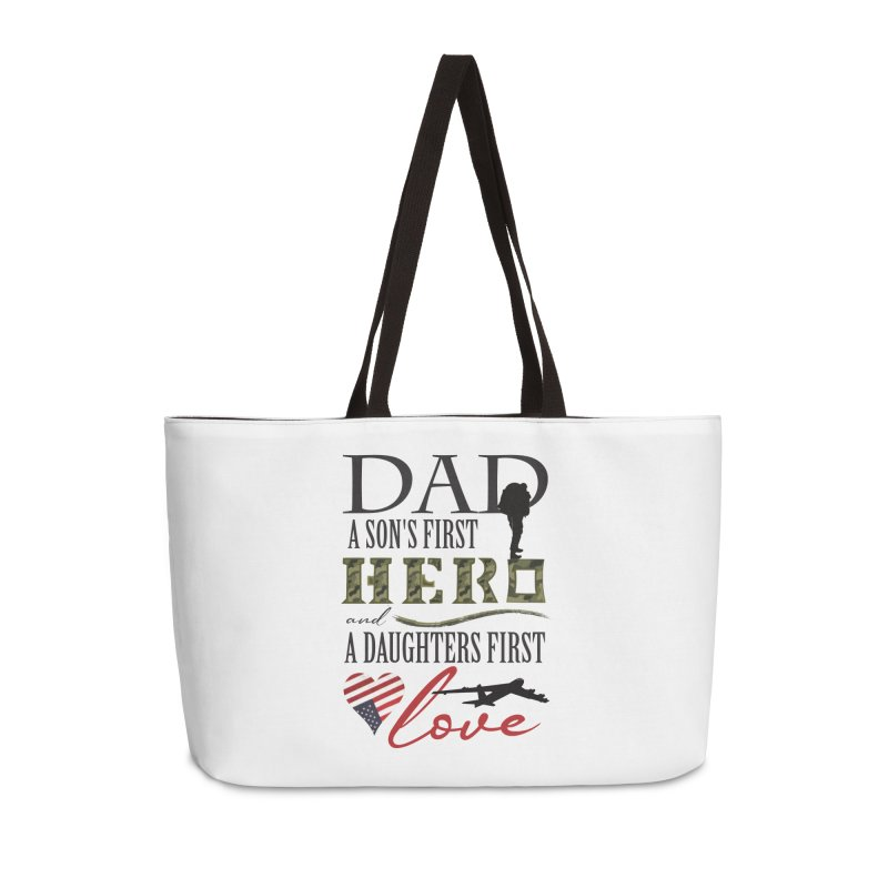 H E R O Accessories Weekender Bag Bag by MyInspirationalGifts Artist Shop
