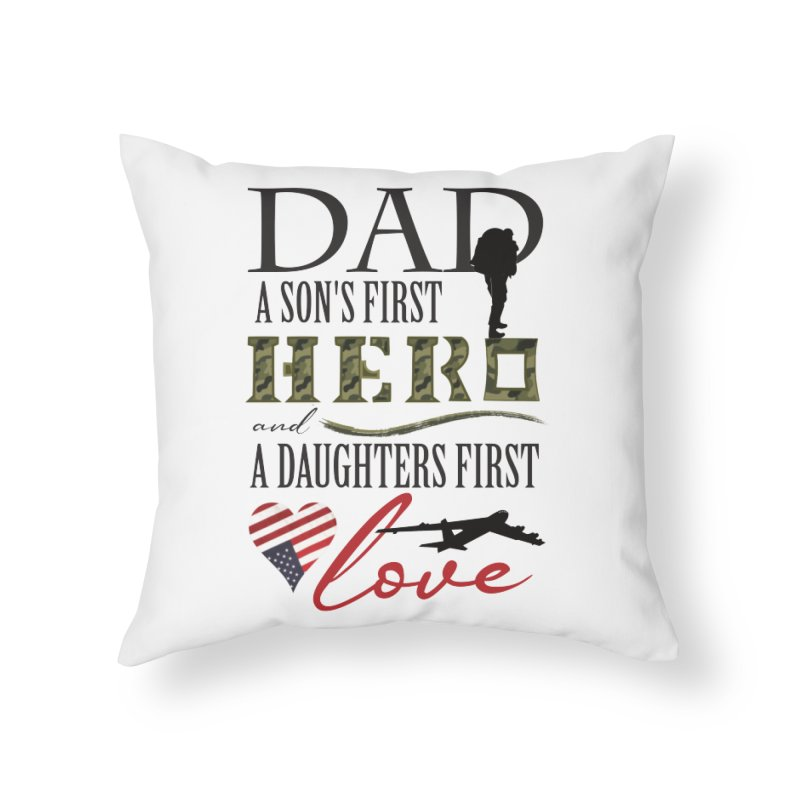 H E R O Home Throw Pillow by MyInspirationalGifts Artist Shop