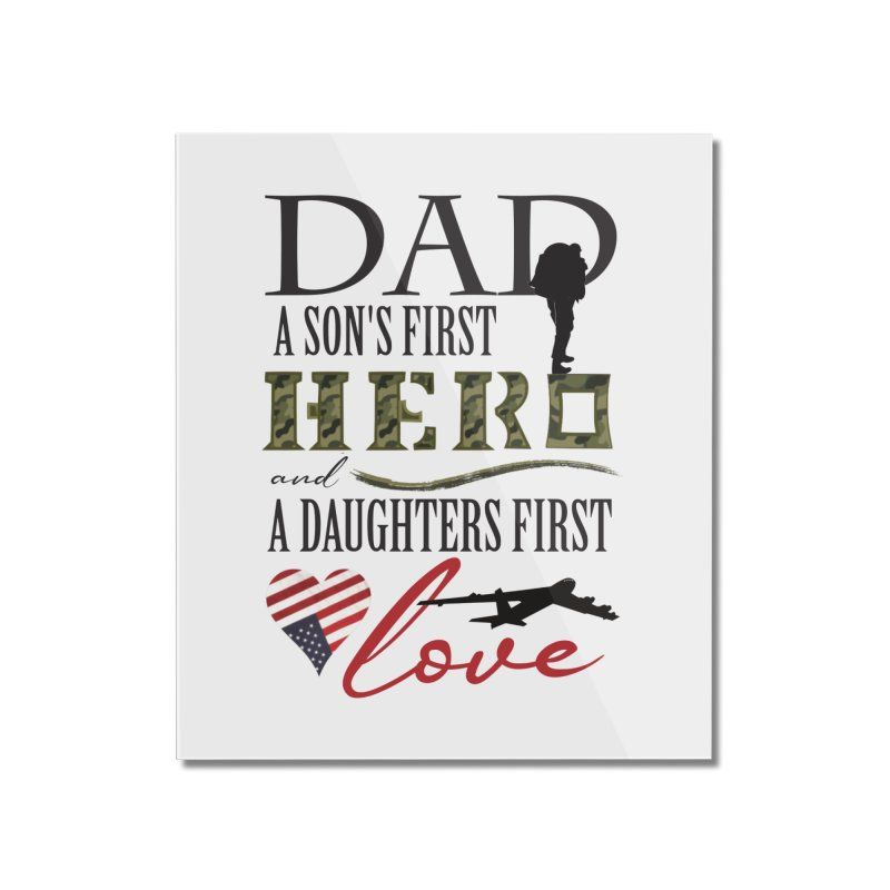 H E R O Home Mounted Acrylic Print by MyInspirationalGifts Artist Shop