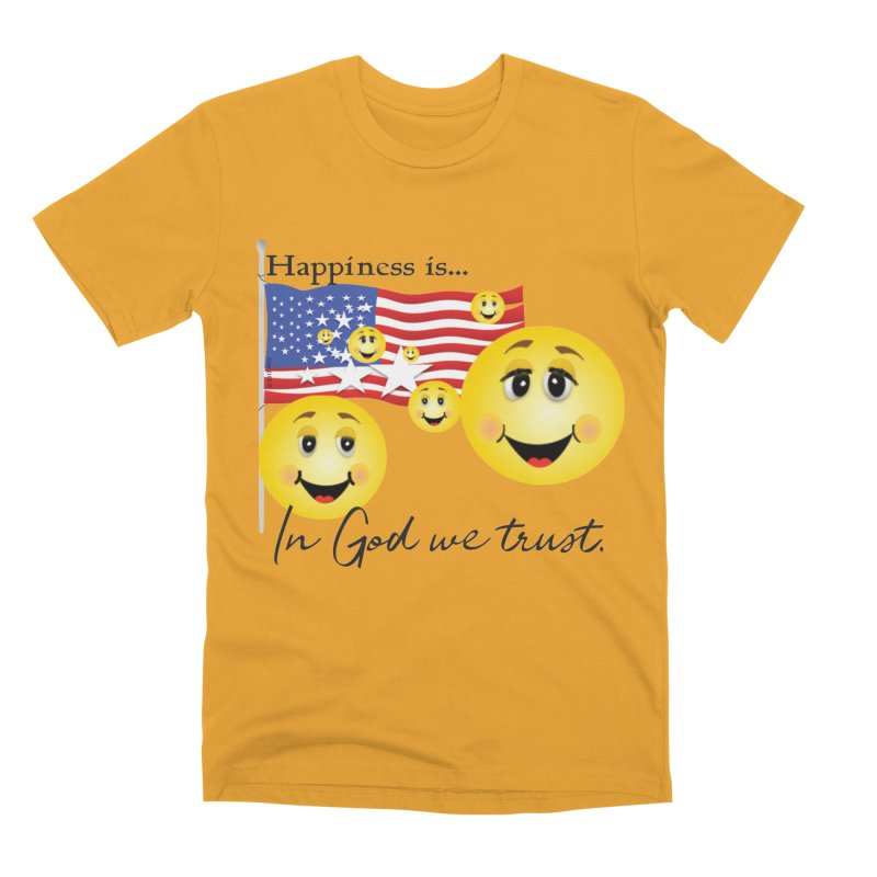 Happiness is... Men's Premium T-Shirt by MyInspirationalGifts Artist Shop