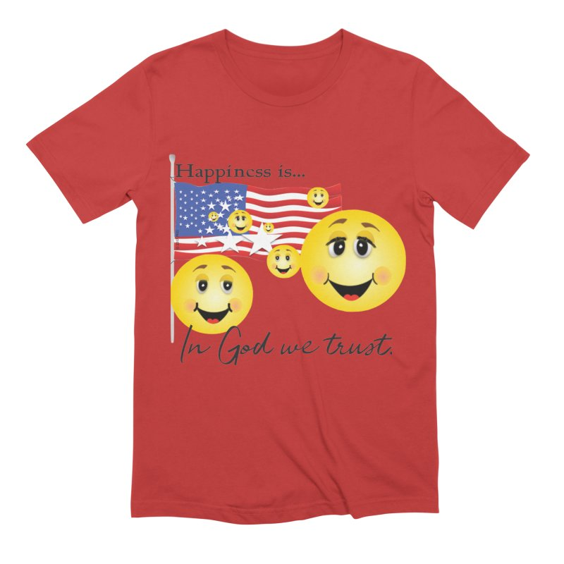 Happiness is... Men's Extra Soft T-Shirt by MyInspirationalGifts Artist Shop