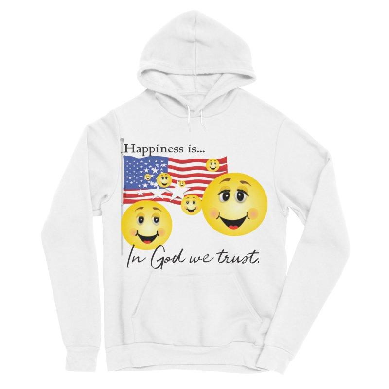 Happiness is... Men's Sponge Fleece Pullover Hoody by MyInspirationalGifts Artist Shop