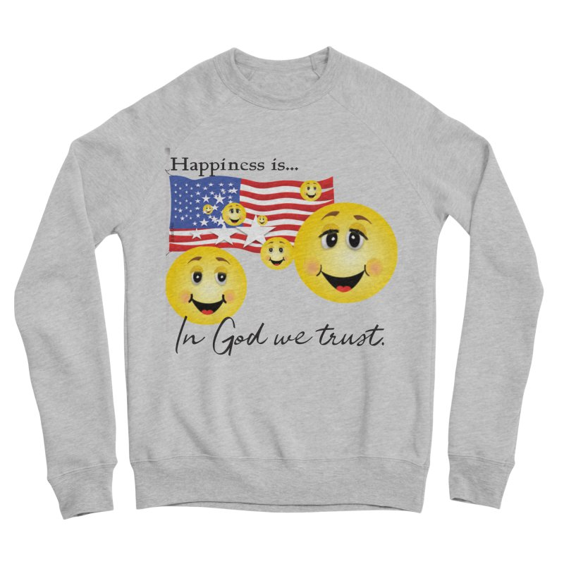 Happiness is... Men's Sponge Fleece Sweatshirt by MyInspirationalGifts Artist Shop