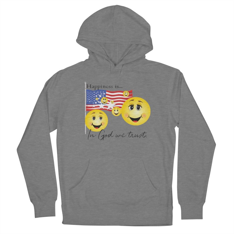 Happiness is... Men's French Terry Pullover Hoody by MyInspirationalGifts Artist Shop