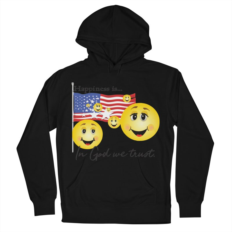 Happiness is... Women's French Terry Pullover Hoody by MyInspirationalGifts Artist Shop