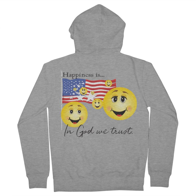 Happiness is... Women's French Terry Zip-Up Hoody by MyInspirationalGifts Artist Shop