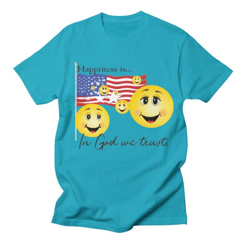 Happiness is... Men's Regular T-Shirt by MyInspirationalGifts Artist Shop