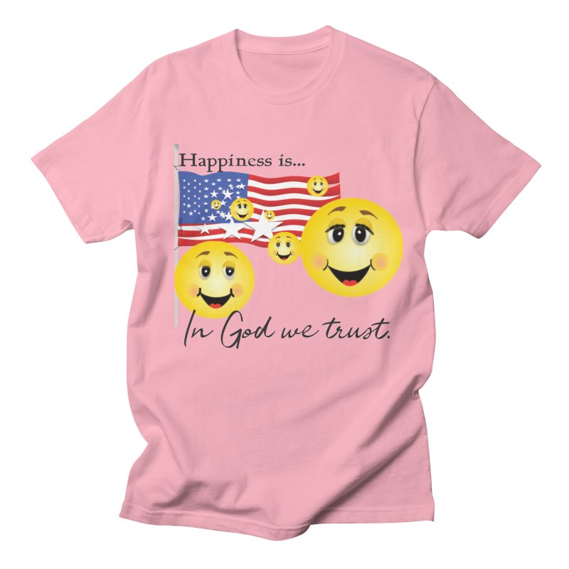 Happiness is... Men's Regular T-Shirt by MyInspirationalGifts Artist Shop