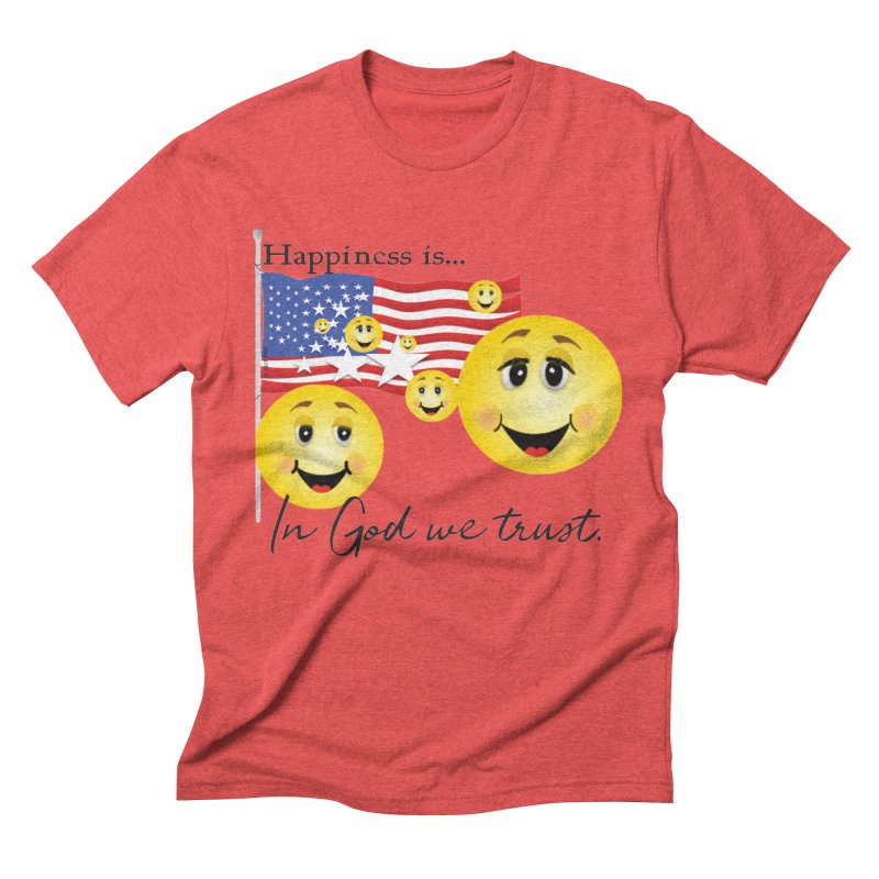 Happiness is... Men's Triblend T-Shirt by MyInspirationalGifts Artist Shop