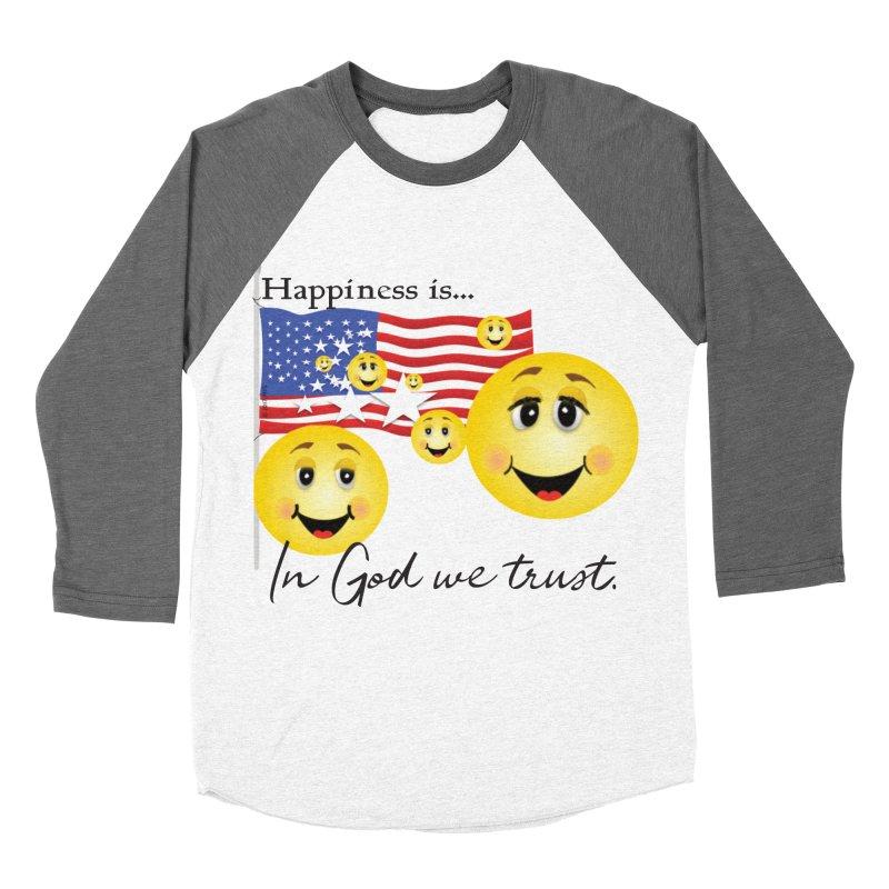 Happiness is... Women's Baseball Triblend Longsleeve T-Shirt by MyInspirationalGifts Artist Shop
