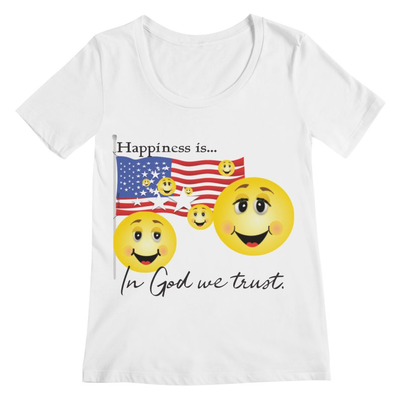 Happiness is... Women's Regular Scoop Neck by MyInspirationalGifts Artist Shop