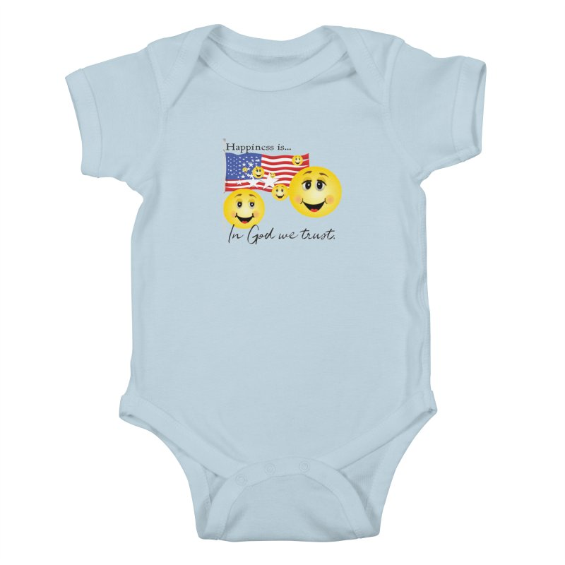 Happiness is... Kids Baby Bodysuit by MyInspirationalGifts Artist Shop