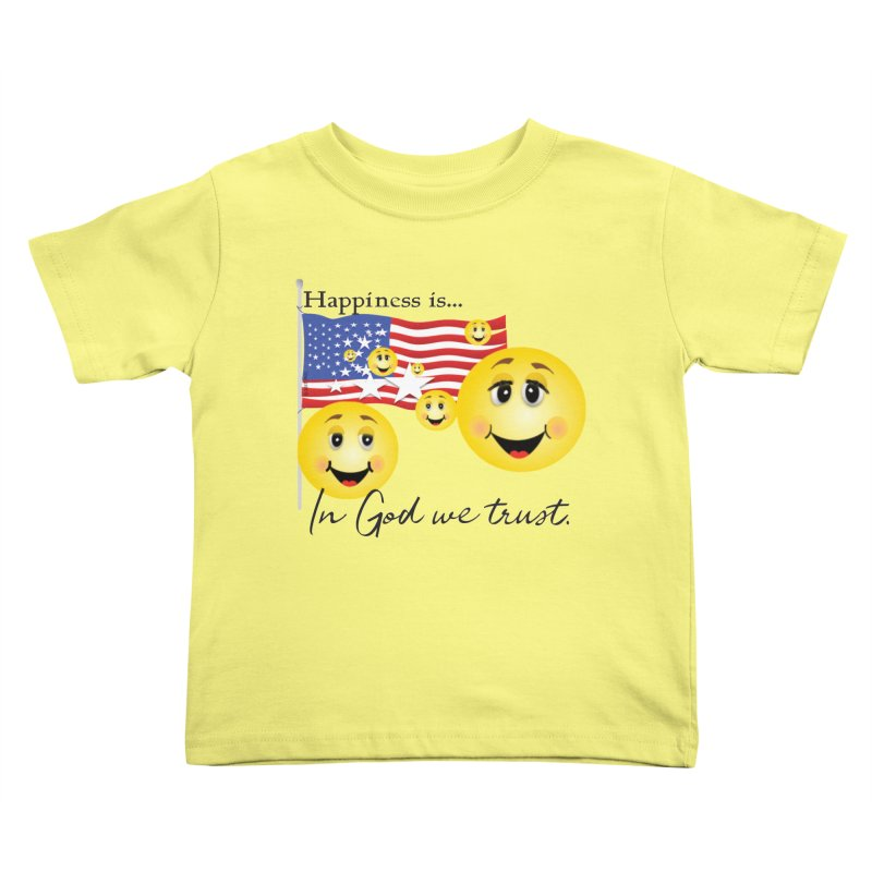 Happiness is... Kids Toddler T-Shirt by MyInspirationalGifts Artist Shop
