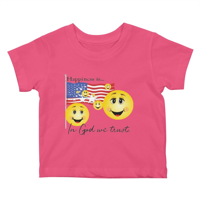 Happiness is... Kids Baby T-Shirt by MyInspirationalGifts Artist Shop