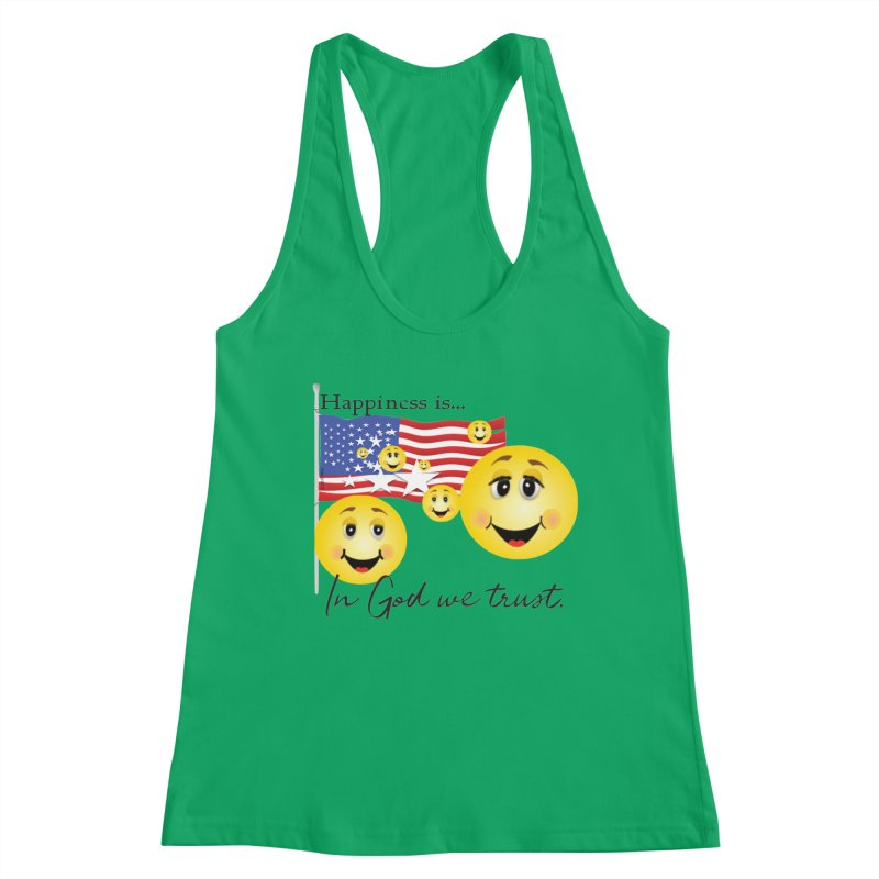 Happiness is... Women's Racerback Tank by MyInspirationalGifts Artist Shop
