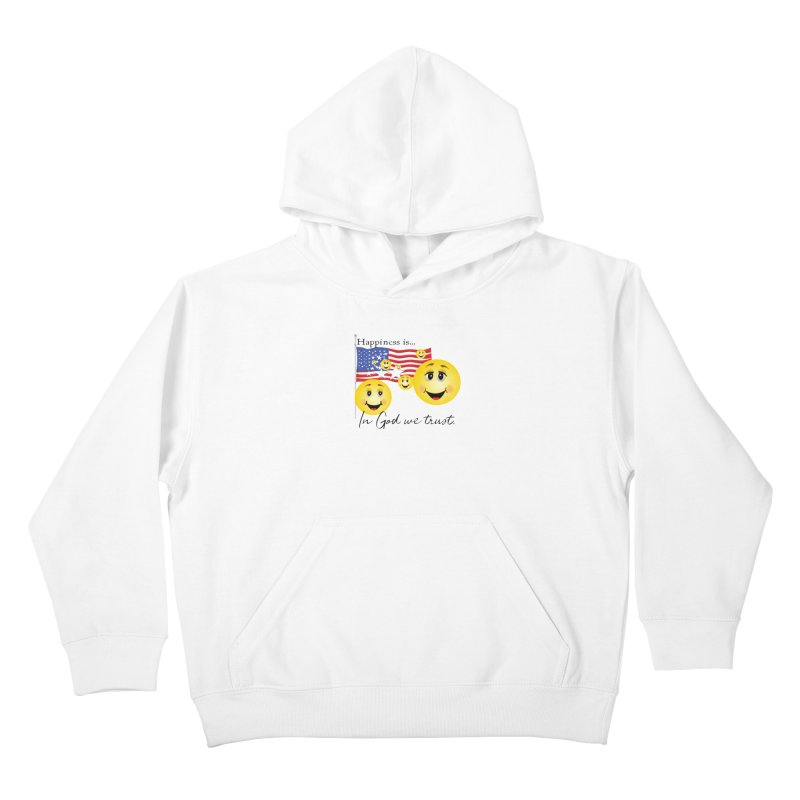 Happiness is... Kids Pullover Hoody by MyInspirationalGifts Artist Shop