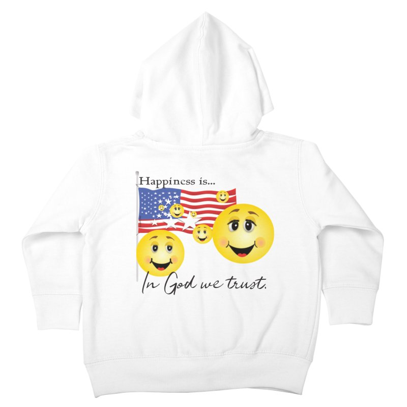 Happiness is... Kids Toddler Zip-Up Hoody by MyInspirationalGifts Artist Shop