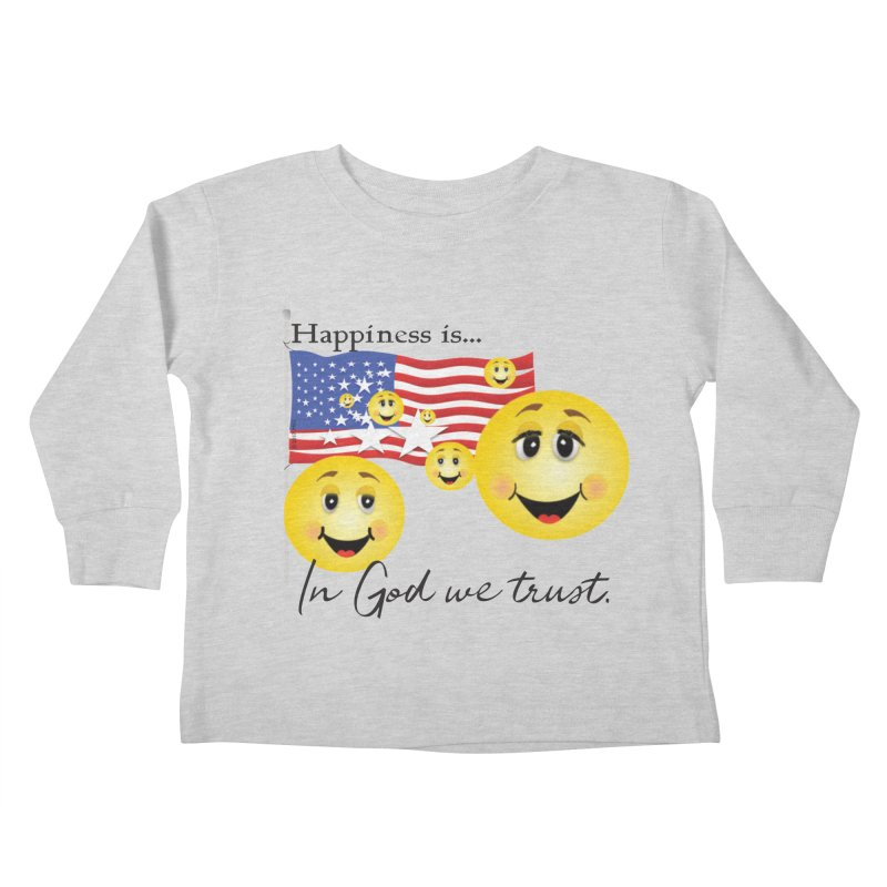 Happiness is... Kids Toddler Longsleeve T-Shirt by MyInspirationalGifts Artist Shop