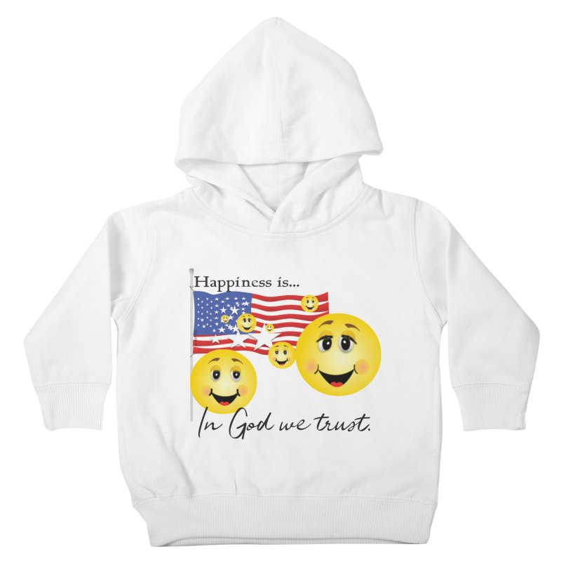 Happiness is... Kids Toddler Pullover Hoody by MyInspirationalGifts Artist Shop