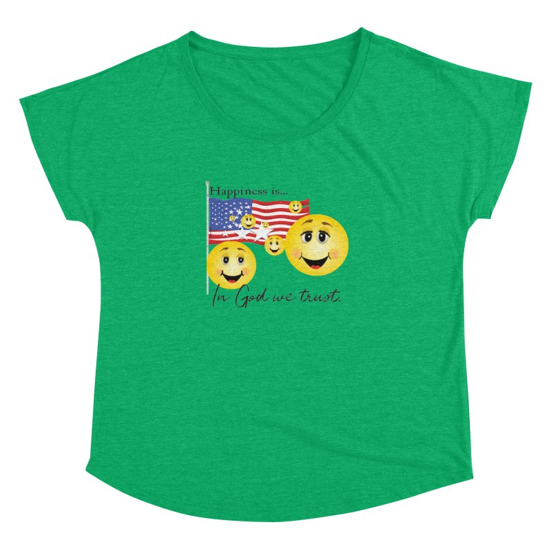 Happiness is... Women's Dolman Scoop Neck by MyInspirationalGifts Artist Shop
