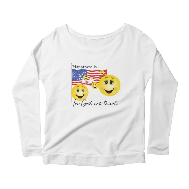 Happiness is... Women's Scoop Neck Longsleeve T-Shirt by MyInspirationalGifts Artist Shop