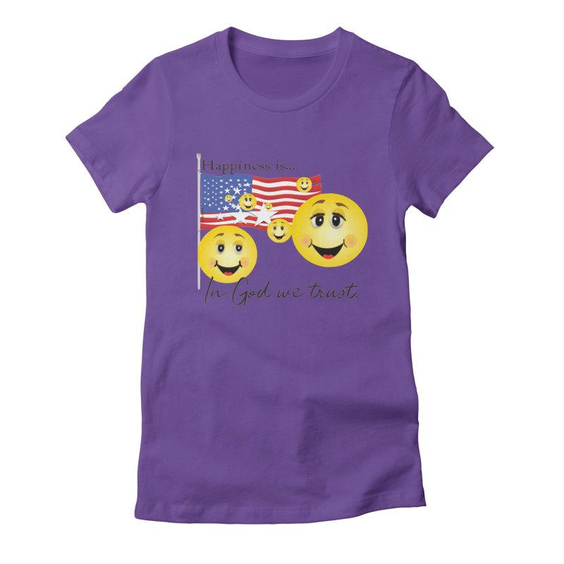 Happiness is... Women's Fitted T-Shirt by MyInspirationalGifts Artist Shop