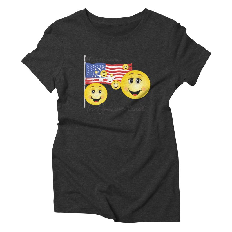 Happiness is... Women's Triblend T-Shirt by MyInspirationalGifts Artist Shop