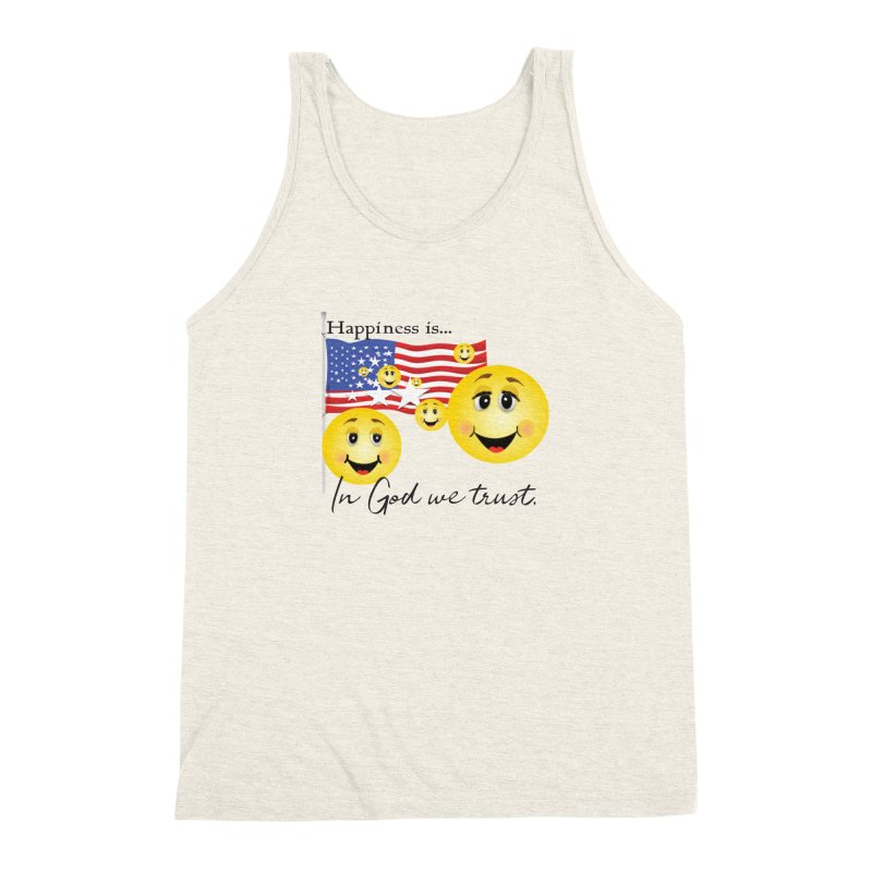 Happiness is... Men's Triblend Tank by MyInspirationalGifts Artist Shop