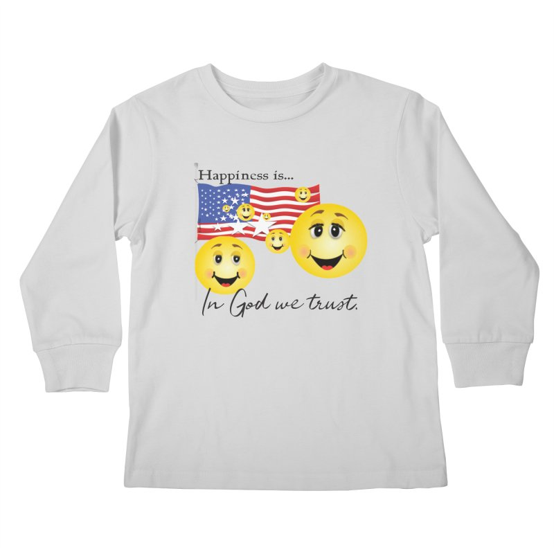 Happiness is... Kids Longsleeve T-Shirt by MyInspirationalGifts Artist Shop
