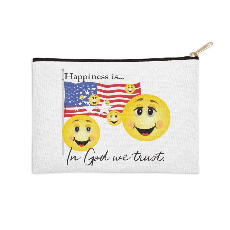Happiness is... Accessories Zip Pouch by MyInspirationalGifts Artist Shop