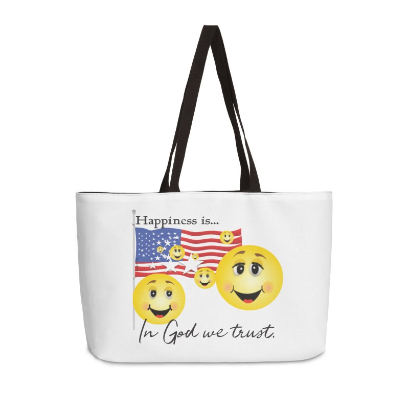 Happiness is... Accessories Weekender Bag Bag by MyInspirationalGifts Artist Shop