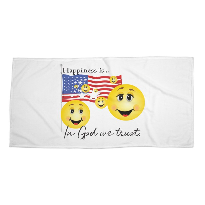 Happiness is... Accessories Beach Towel by MyInspirationalGifts Artist Shop