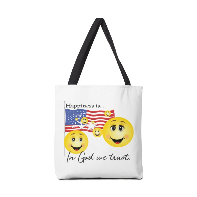 Happiness is... Accessories Tote Bag Bag by MyInspirationalGifts Artist Shop