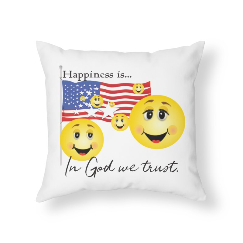 Happiness is... Home Throw Pillow by MyInspirationalGifts Artist Shop